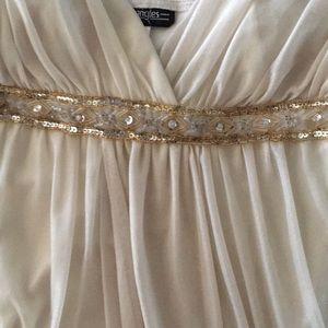 Beige/Gold Dress